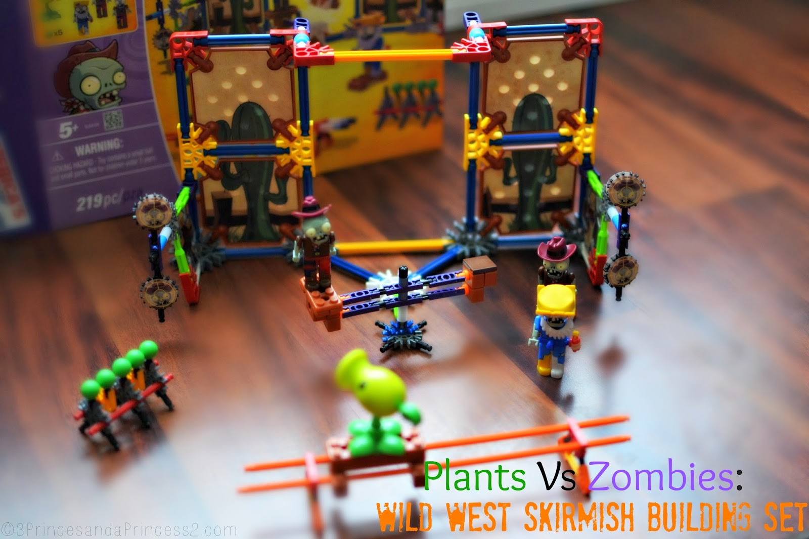 Plants Vs Zombies Wild West Skirmish #K'NEX set