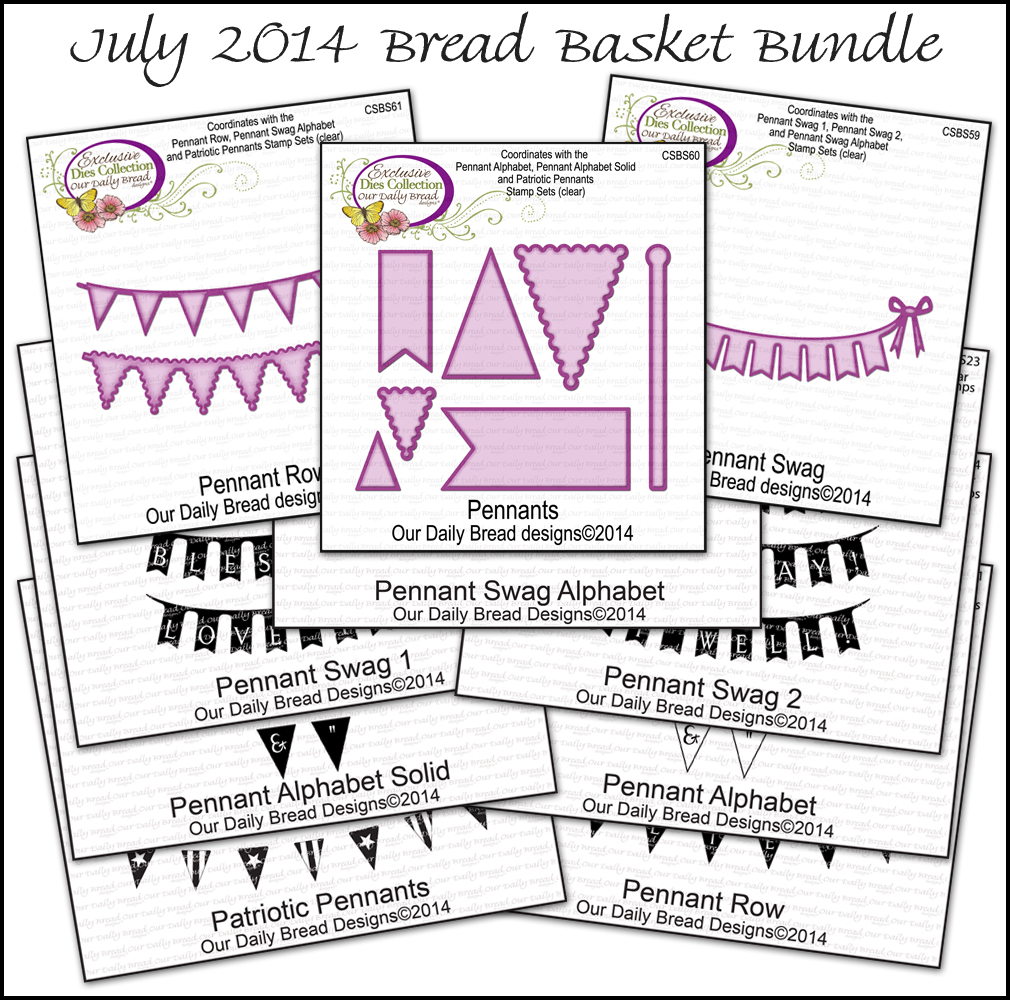 Stamps - Our Daily Bread Designs July 2014 Bread Basket Bundle