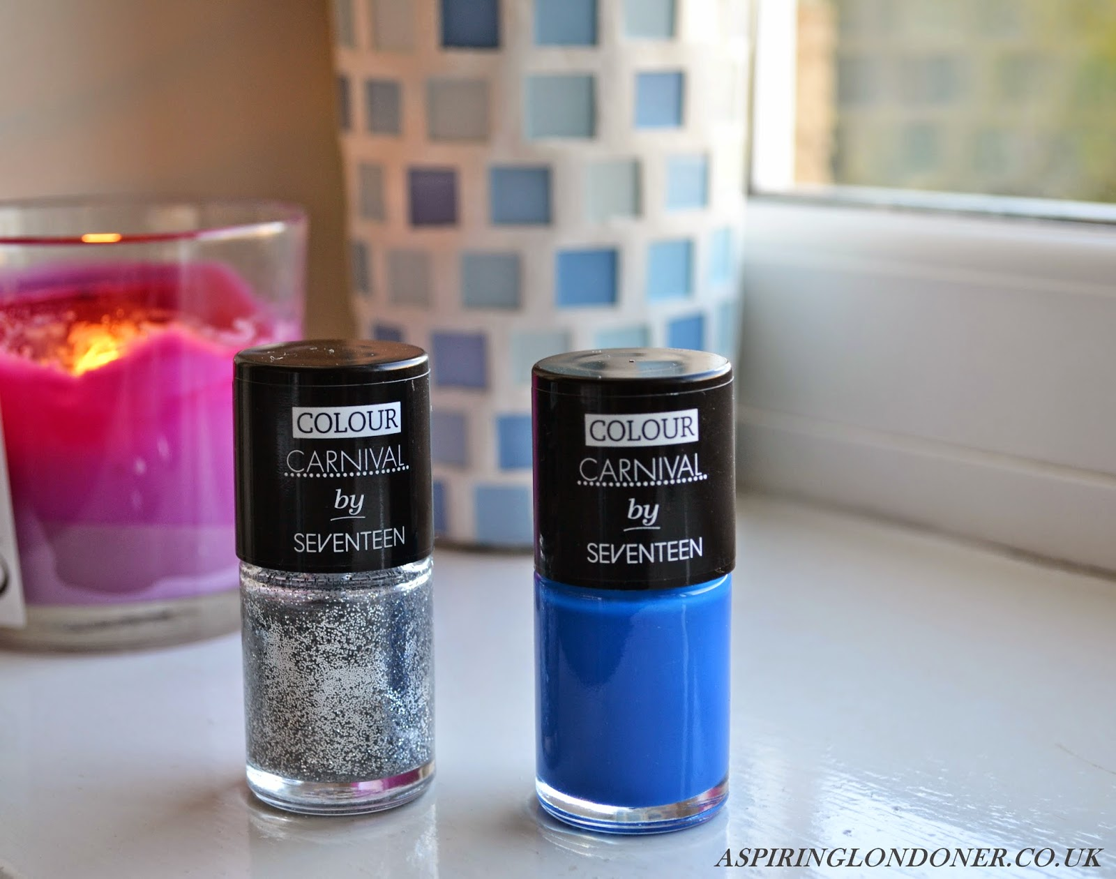 Seventeen Colour Carnival Nail Polish in Blue & Silver Glitter - Aspiring Londoner