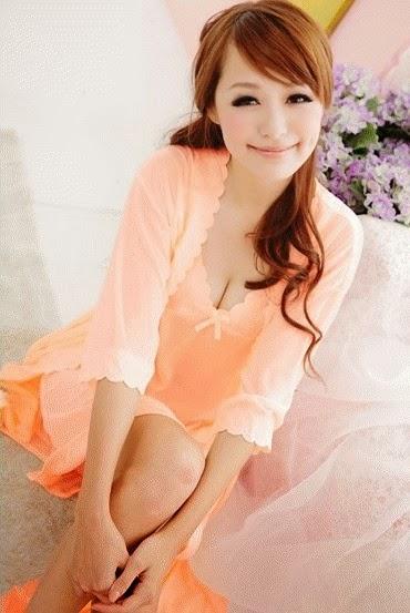 baju tidur wanita orange