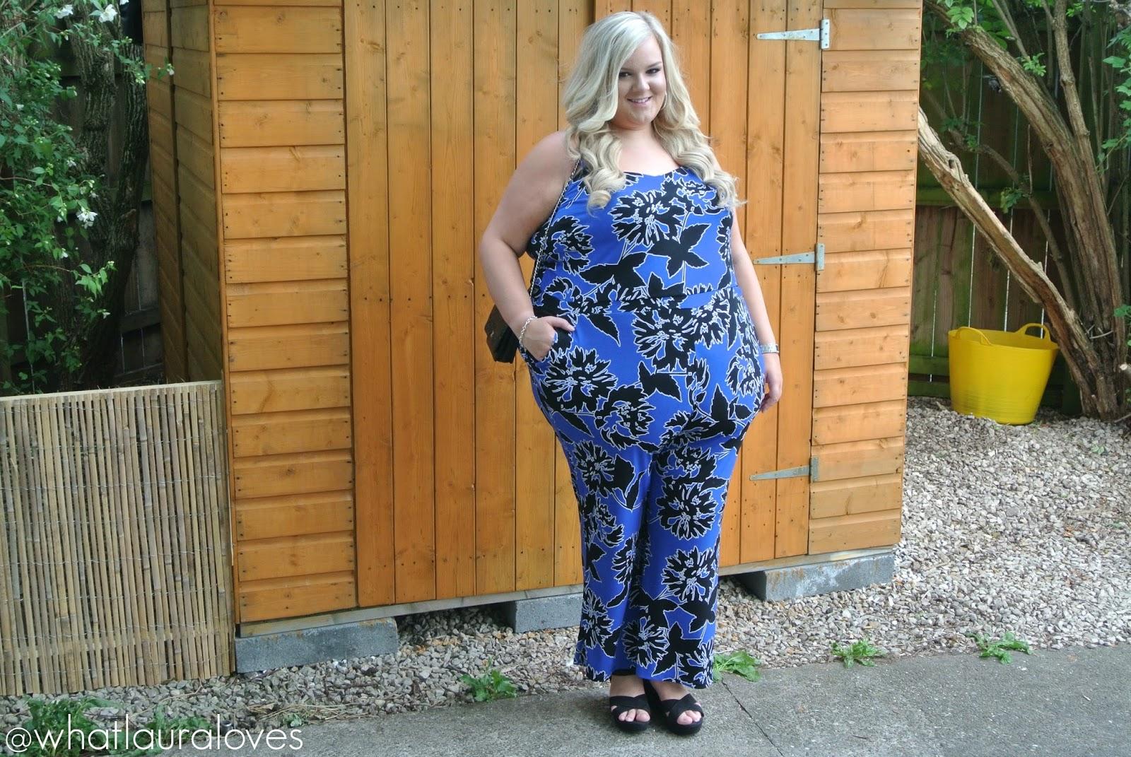 WhatLauraLoves Simply Be Plus Size Jumpsuit Cobalt Blue