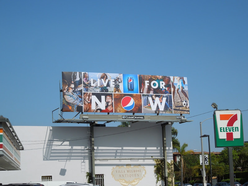 Pepsi Live For Now billboard