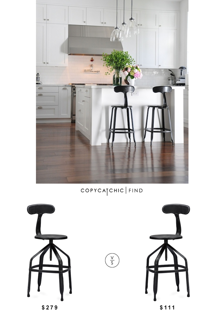 french t back stool look for less