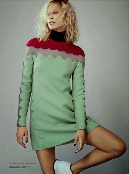 Valentino RTW 2013 AW Green & Red Dress