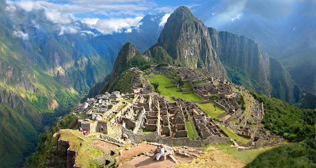 Increíble panorámica de Machu Picchu, Perú