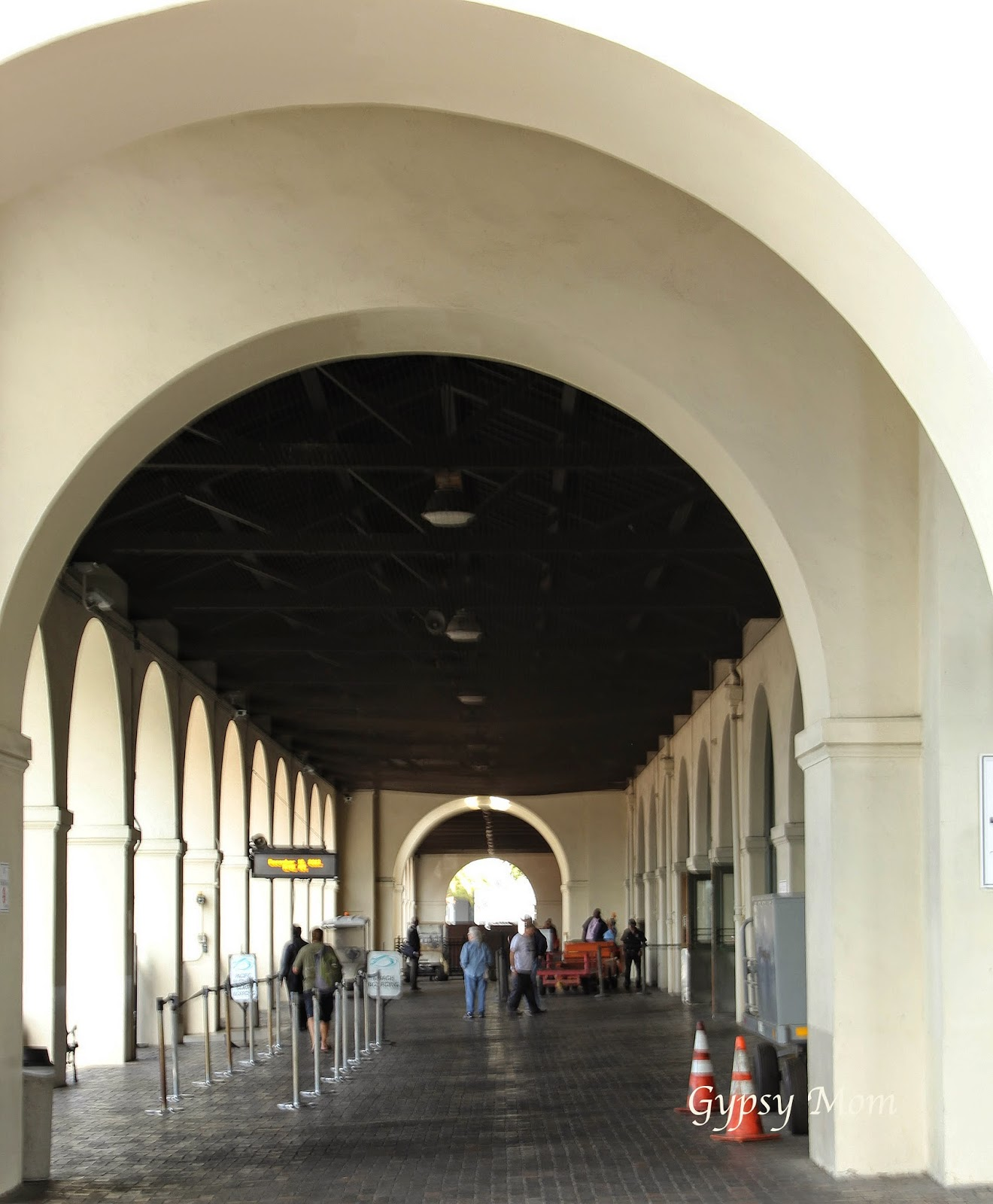 Passageway for passengers at San Diego Union Station