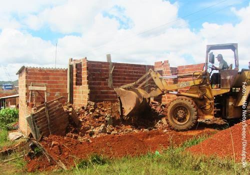 Ação remove seis obras irregulares no Núcleo Rural Zumbi dos Palmares