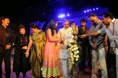 RADHIKA PANDIT, SUDEEP & KAMAL HASAN AT BANGALORE INTERNATIONAL FILM FESTIVAL