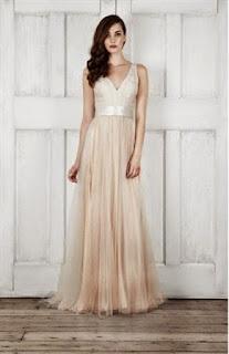 Contoh Dress Cantik Panjang Tanpa Lengan
