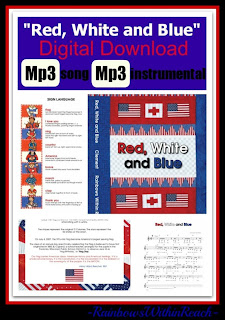 "photo of: Digital Download of ""Red, White and Blue"" Mp3 song + instrumental by Debbie Clement"