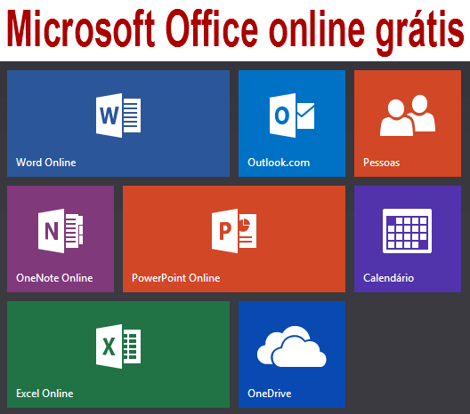 Microsoft Office online grátis