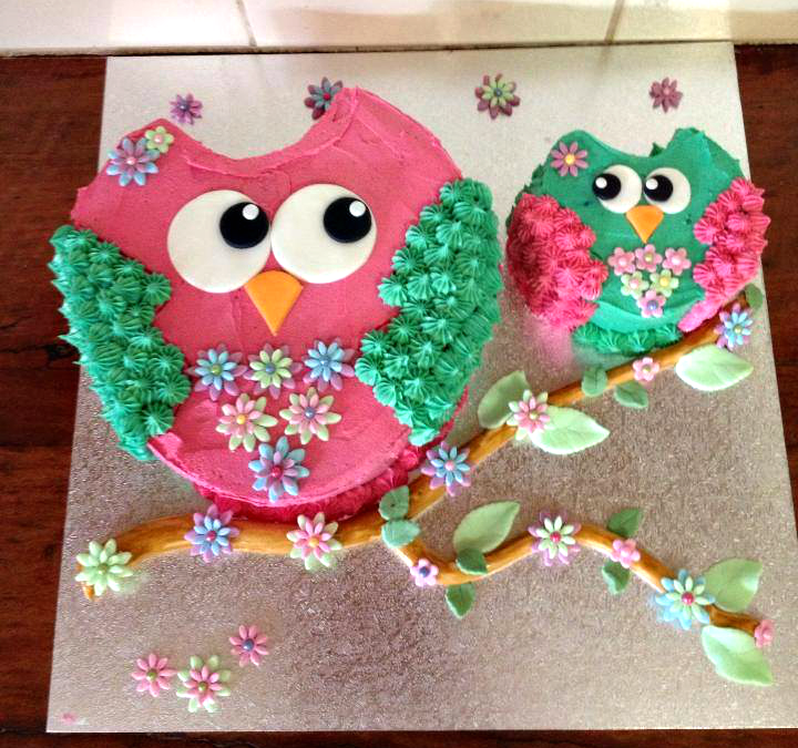 idea, make a mommy owl and a baby owl cake . Then whatever the cakes ...
