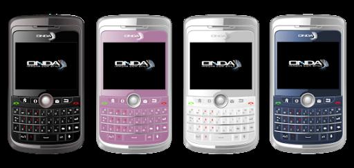 ONDA N235 preto, rosa, branco e azul
