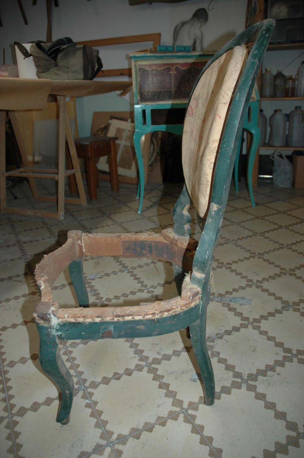 Mi las mobles restauraci i entapissat d una cadira isabelina de caoba - Mobles vintage barcelona ...