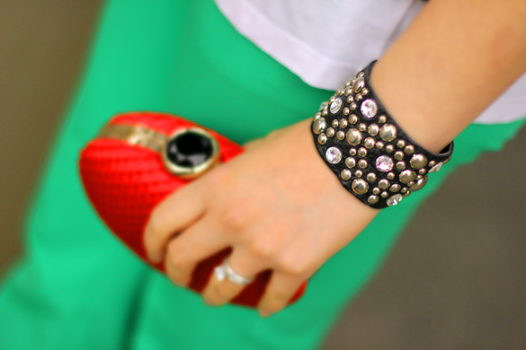 Mouche Leather Studded Cuff