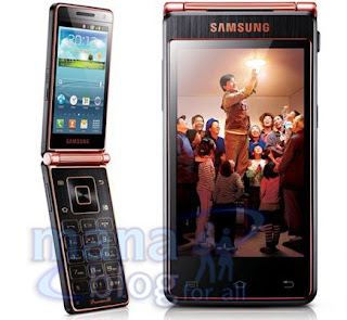 Samsung flip phone with dual touchscreens