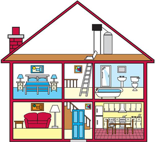 Partes de la casa dibujo imagui for Cosas decorativas para la casa
