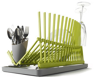contemporary plastic dish rack to dry for in green