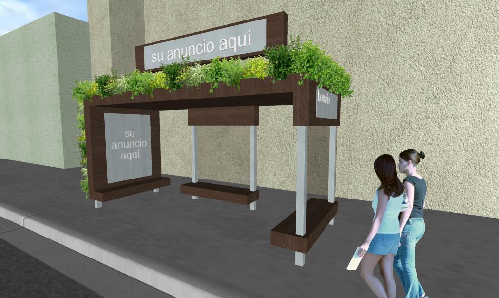 Diseño Parabus Minimalist Green con Jardin Vertical y Colgante 2