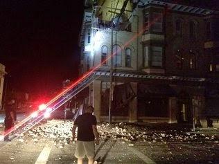 Derrunbes tras sismo en California, 24 de Agosto 2014