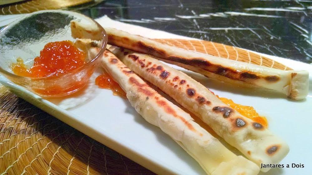 Pastel de gorgonzola e nozes