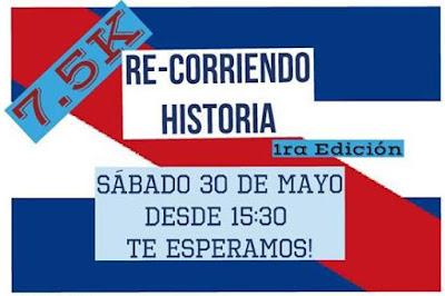 7,5k ReCorriendo la historia (Las Piedras, sáb 30/may/2015)