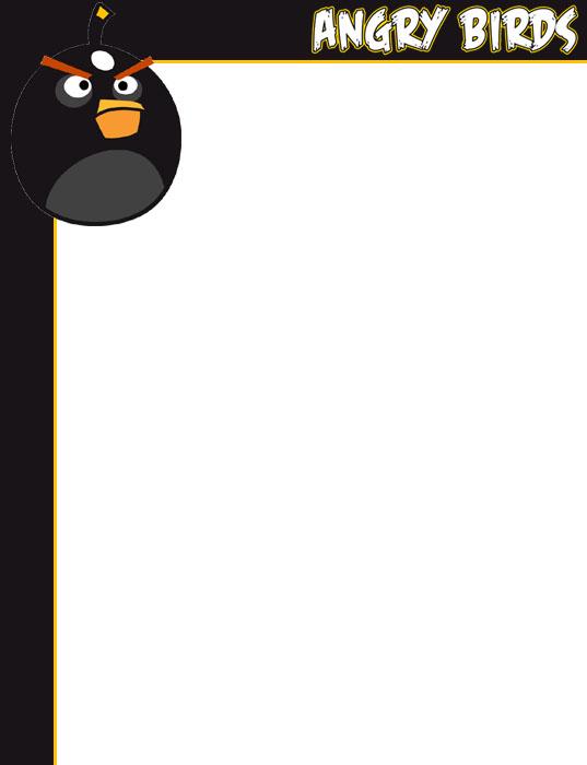 Bordes Decorativos: Bordes decorativos de Angry Birds para imprimir