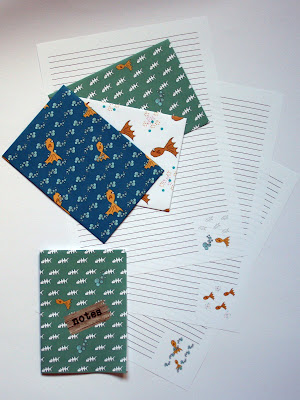 Stationery set 'fish'