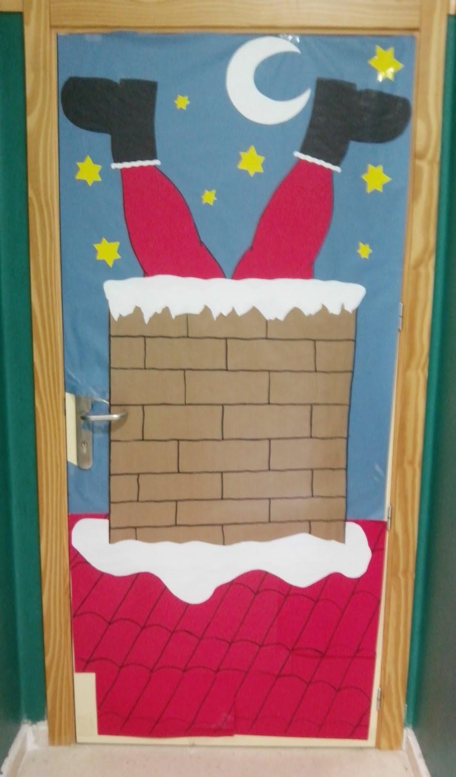 C mo mola la m sica puertas del cole lleg la navidad for Decoracion de la puerta de entrada