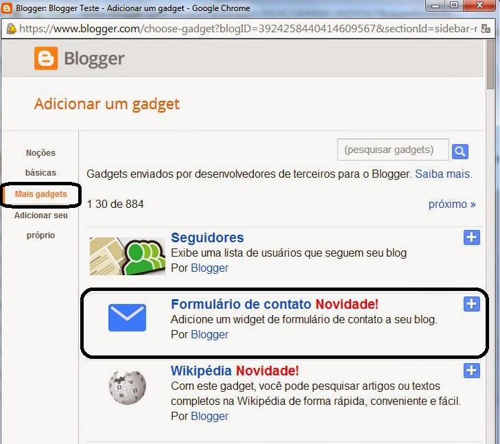 Formulário de contato para Blogger 4