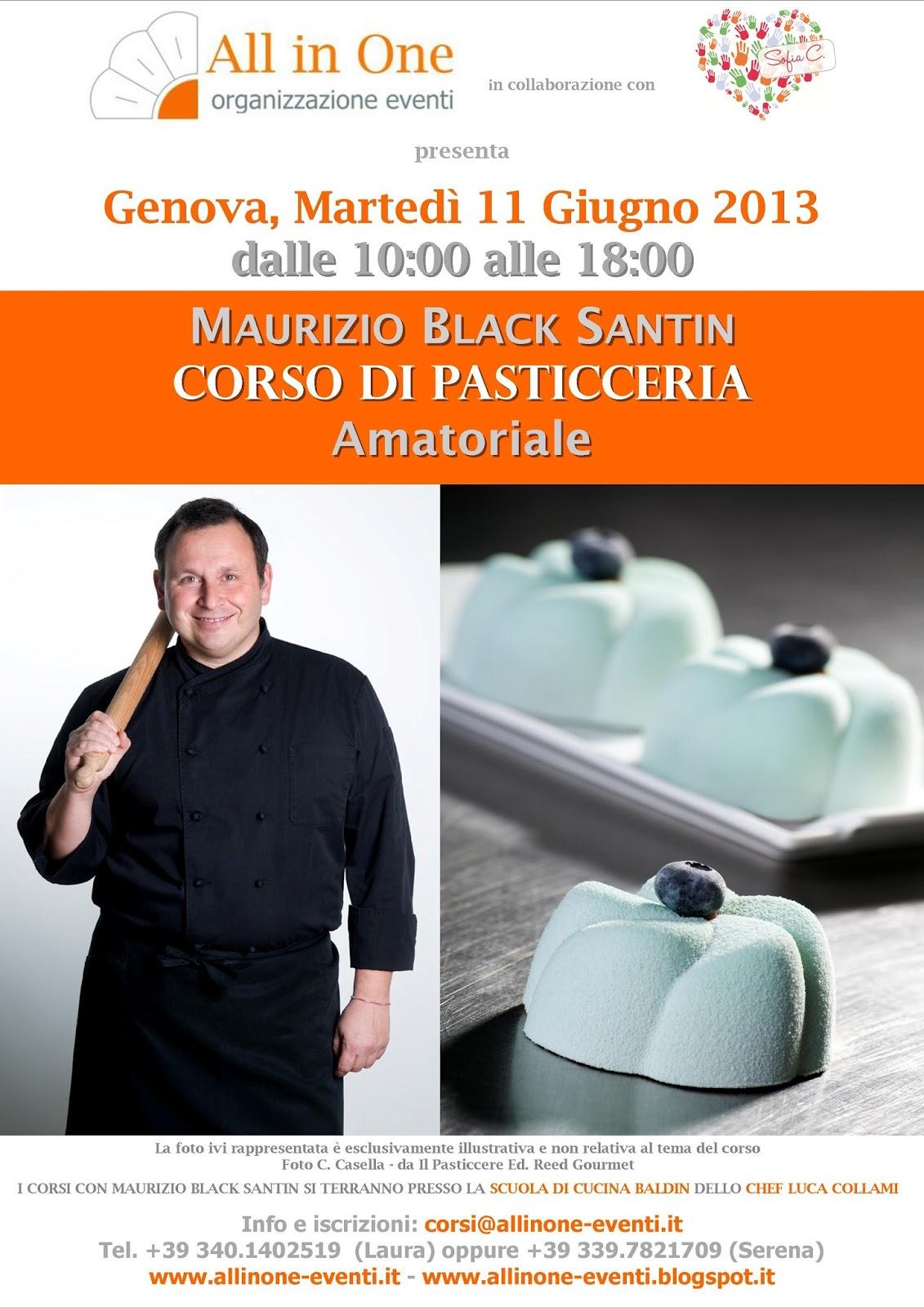All in one organizzazione eventi corso amatoriale con maurizio black santin genova 11 giugno - Corsi di cucina genova ...