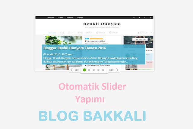blogger Otomatik Slider
