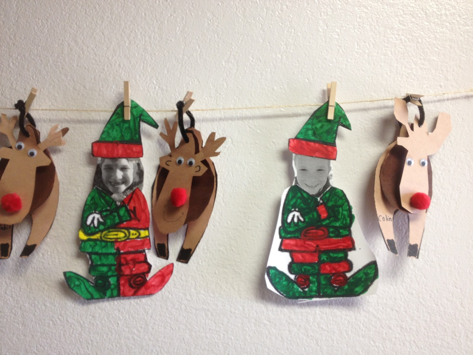 Faithfully in First - a first grade blog: Christmas Crafts