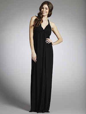 John Lewis Halterneck Maxi Dress, Black
