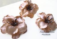 Цветя карамел от полимерна глина
