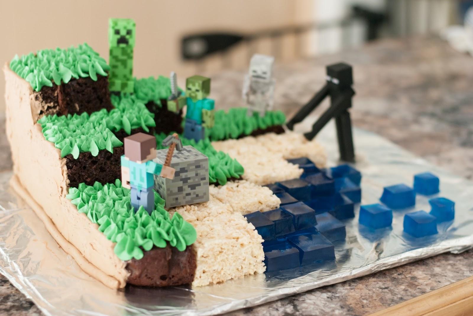 Ali la mode Minecraft Cake Chocolate Cake Swiss Meringue
