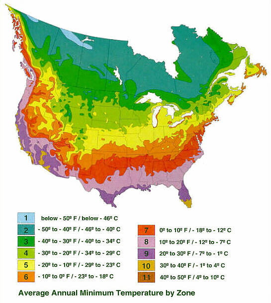Gardenchat What Gardening Zone Do You Share From - Map of growing zones in the us