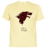 el norte no olvida camiseta - Juego de Tronos en los siete reinos
