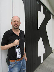 Bill Tieleman at K Vintners & Charles Smith wines, Walla Walla, Washington, USA