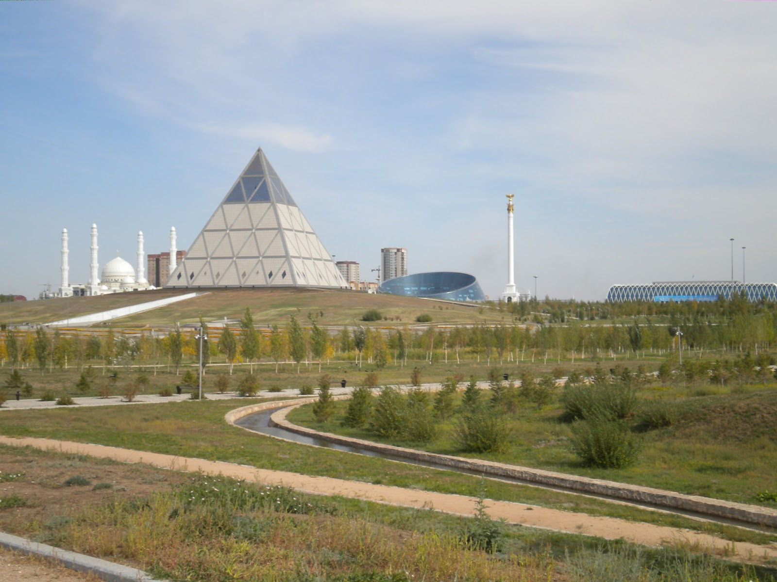 Pyramid, Astana Mosque and Kaz Eli