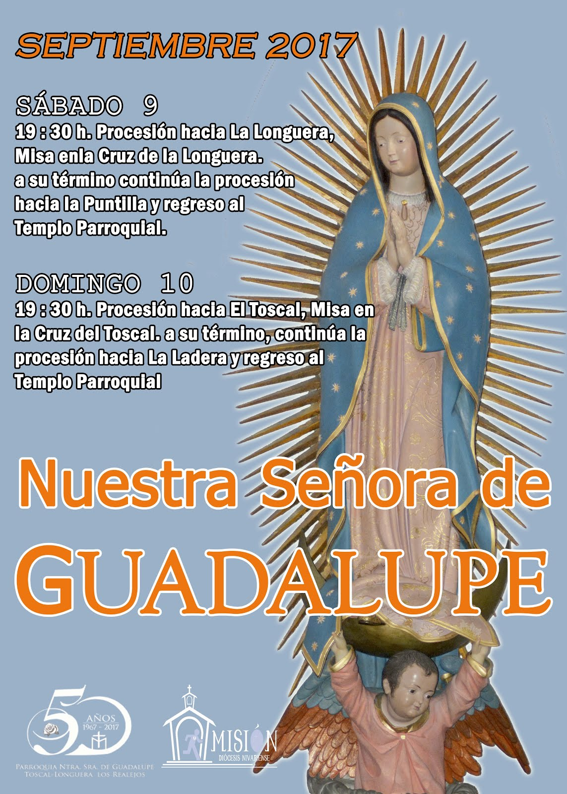 Actos en honor a Ntra. Sra. de Guadalupe