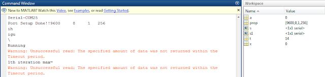 Accessing the Serial Port using MATLAB Code: Serial communication through MATLAB