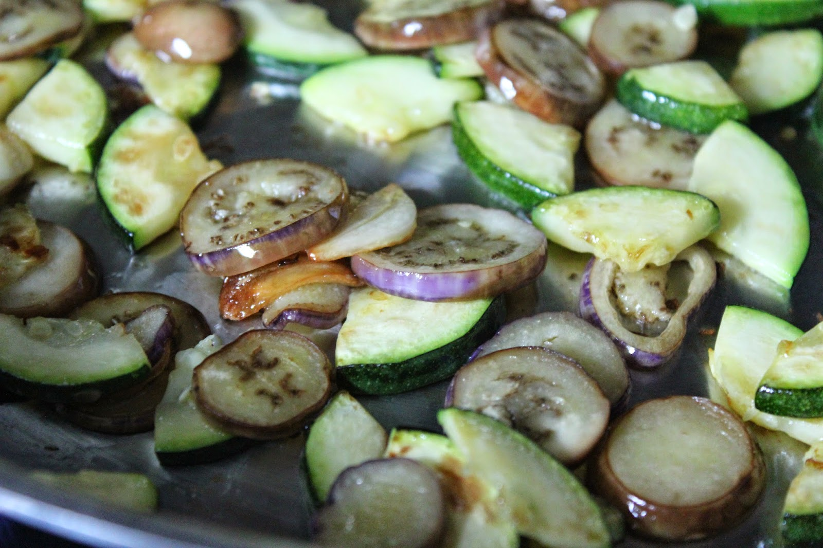 Zucchini and fairytale eggplant