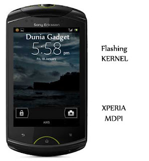 Cara flash kernel Xperia Mini, Mini Pro, Active, LWW