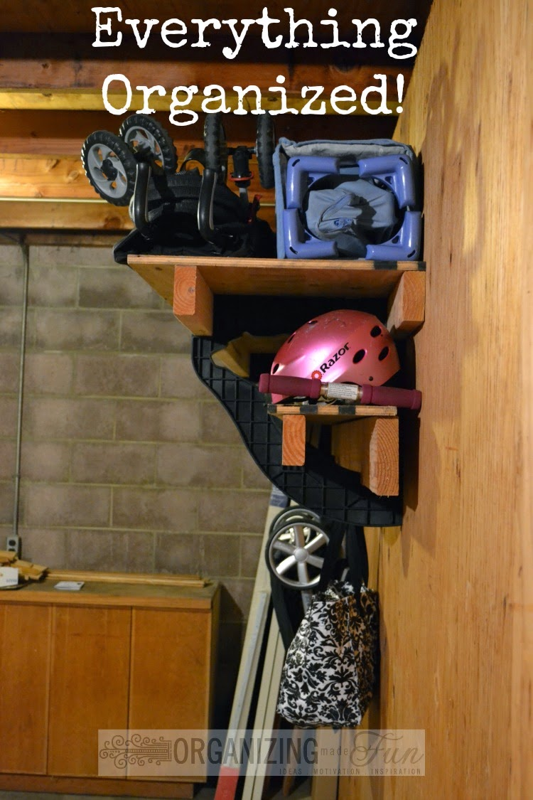 Get everything off the floor and organized in the garage :: OrganizingMadeFun.com