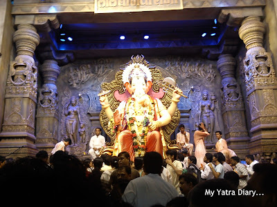 The Lalbaugcha Raja - Ganpati in all His slendour at the Lalbaug Ganpati Mandal