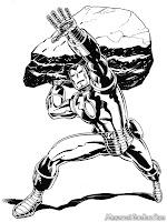 Iron Man Akan Melempar Batu Kearah Musuh