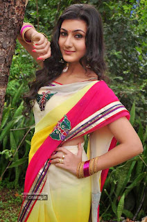 Neelam-Upadhyaya-in-Saree-at-Tamasha-Movie-Opening