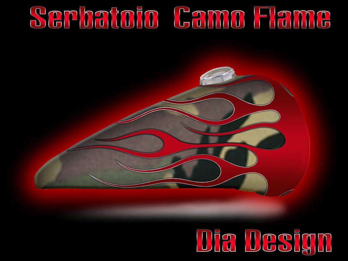 Aerografia serbatoio camo flame