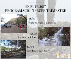 EN RUTA 2017. TERCER TRIMESTRE